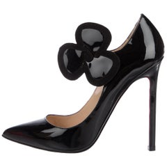 Christian Louboutin Black Patent Mary Jane Evening Pumps Heels