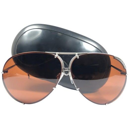 d85526d1b3a14a New Vintage Porsche Design von Carrera 5621 Titan Matte Große Sonnenbrille,  Österreich im Angebot bei 1stdibs