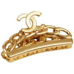 Chanel Gold CC Large Hair Clip