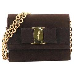 Salvatore Ferragamo Ginny Waist Bag Suede Small