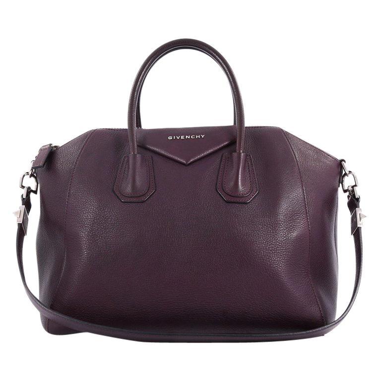 ae5586107e Givenchy Antigona Bag Leather Medium For Sale at 1stdibs