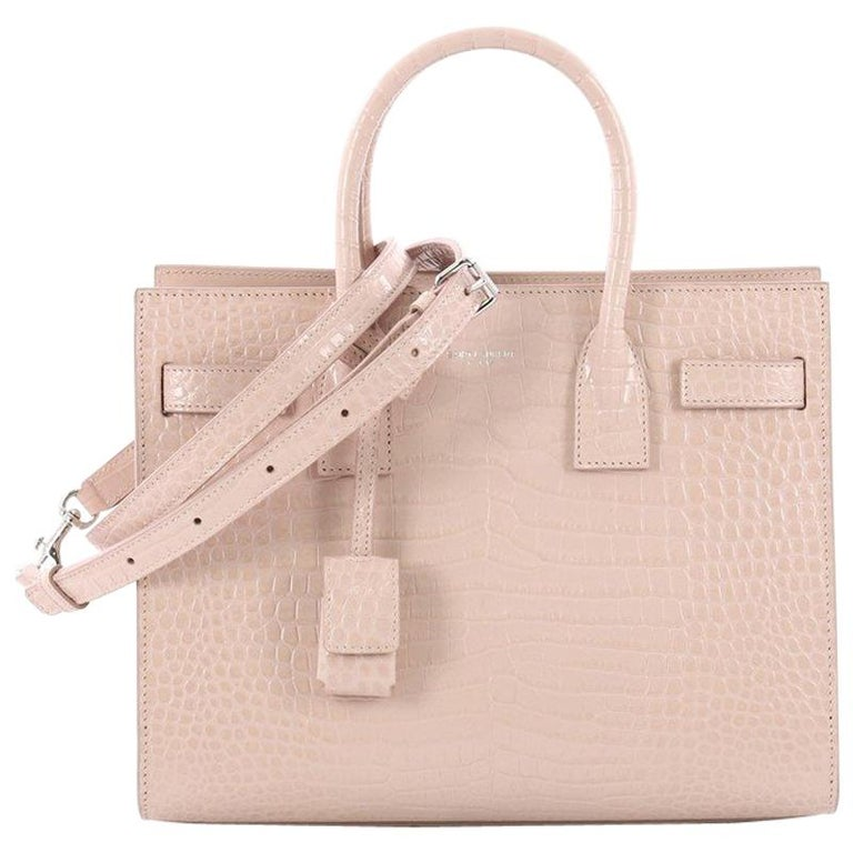755a45412b3 Saint Laurent Sac de Jour NM Handbag Crocodile Embossed Leather Baby For  Sale