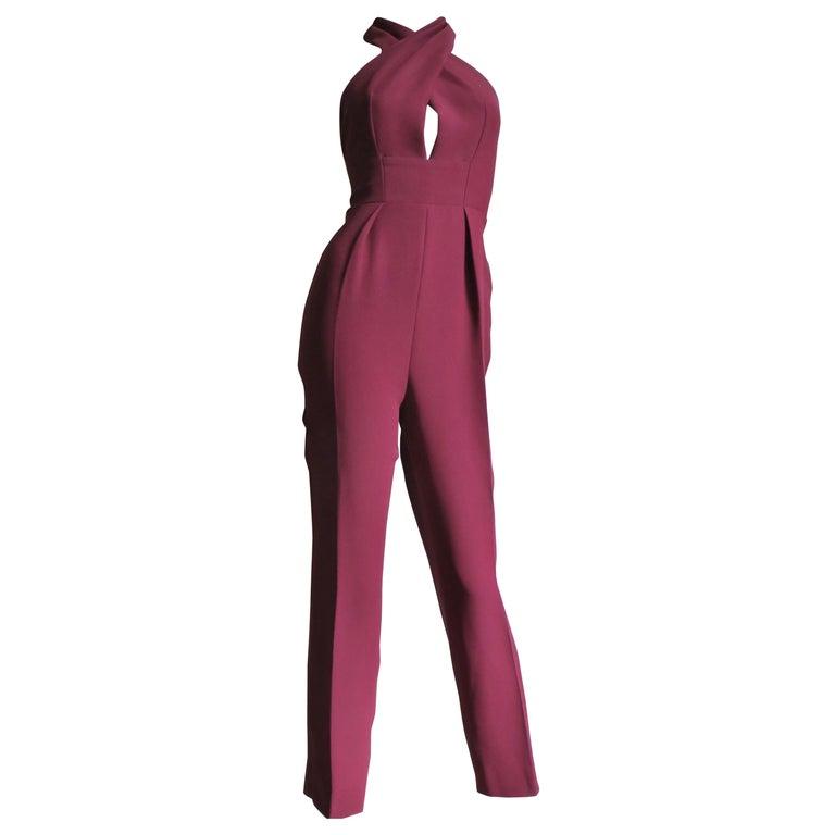 Gucci Silk Halter Jumpsuit For Sale