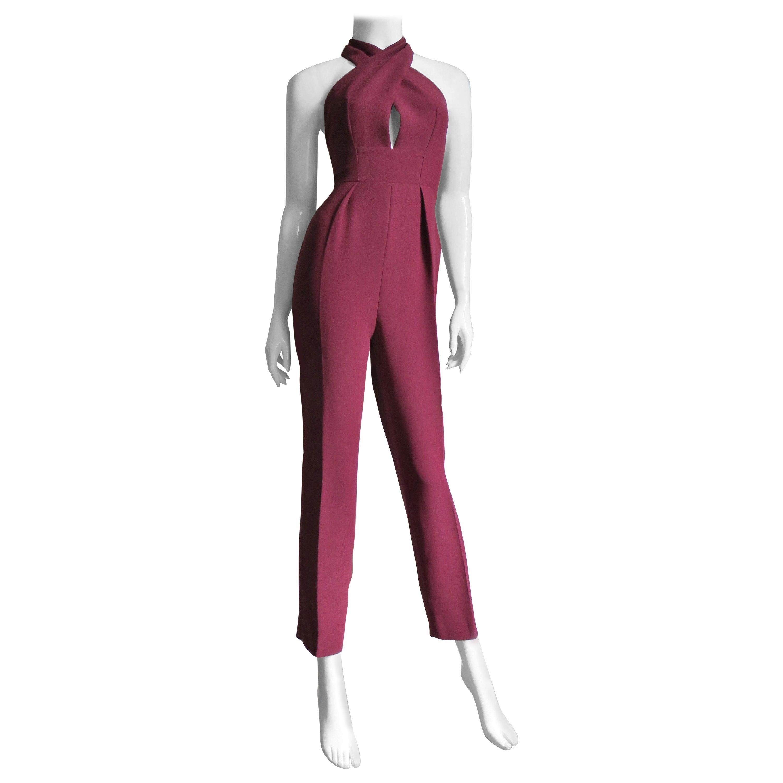 Gucci New Silk Halter Jumpsuit