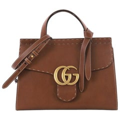 Gucci GG Marmont Top Handle Bag Leather Small