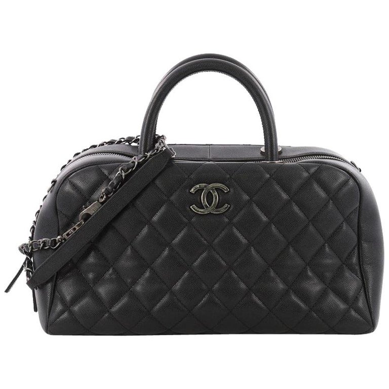 5959a79bcda5 Chanel Coco Handle Bowling Bag Quilted Caviar Medium at 1stdibs