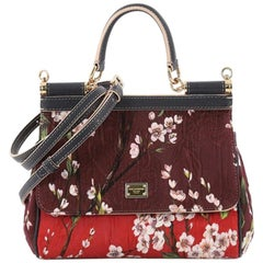Dolce & Gabbana Miss Sicily Handbag Jacquard Small