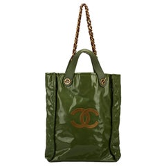 Chanel Limited Edition Green PVC Harrods Handbag