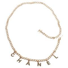 Chanel letter belt