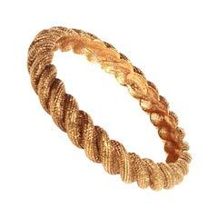 Chanel gold rope bracelet