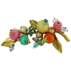 Christian Lacroix Vintage Floral Spray Brooch