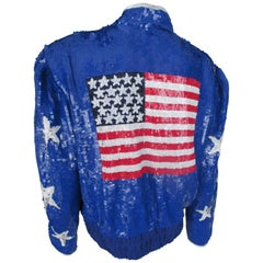 American Stars and Stripes sequined jacket