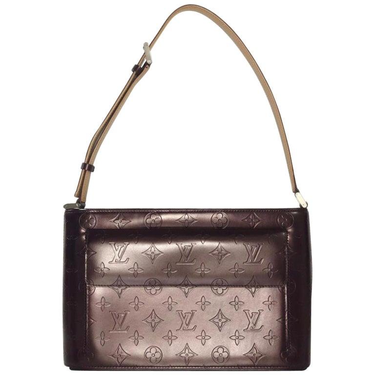 Louis Vuitton Matte Vernis Allston in Purple Shoulder Handbag
