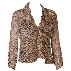 Valentino Roma Animal Print Vintage Silk Shirt