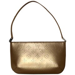 Louis Vuitton Matte Vernis Fowler Gold Shoulder Bag