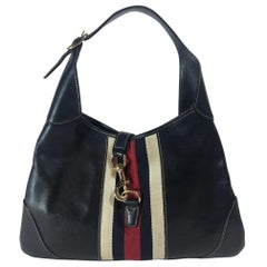 Gucci Leather Jackie O Bouvier Hobo Bag