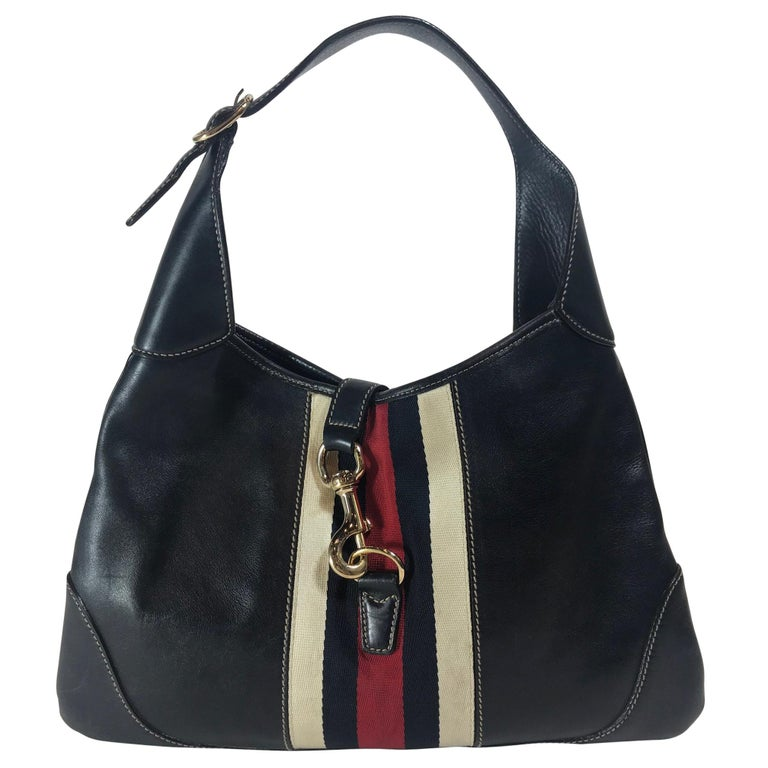 c9631d7d8b9 Gucci Leather Jackie O Bouvier Hobo Bag For Sale at 1stdibs
