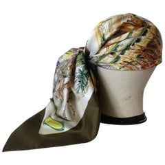 Rare Gucci Sahara Animal Printed Silk Scarf