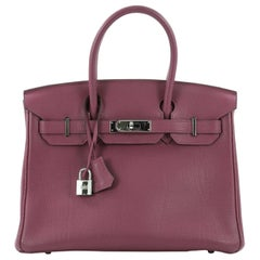 Hermes Birkin Handbag Cyclamen Togo with Palladium Hardware 30