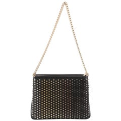 Christian Louboutin Triloubi Chain Bag Spiked Leather Large
