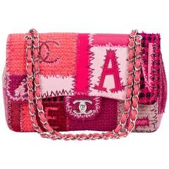 Chanel Patchwork Pink Jumbo Flap Bag