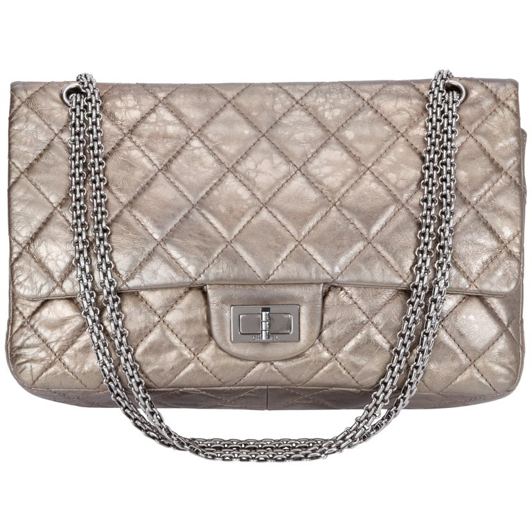 87fbe06c9b54 Chanel Metallic Reissue Jumbo Flap Bag For Sale at 1stdibs