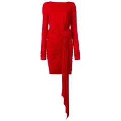 Alexandre Vauthier Stretch-Jersey Drape Dress