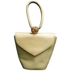 Salvatore Ferragamo Tan Leather Wristlet Handbag, circa 1990s