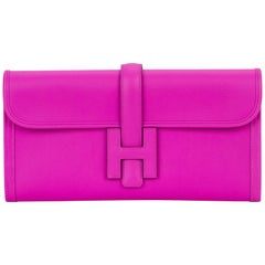 Hermes Magnolia Swift Jige Clutch Bag