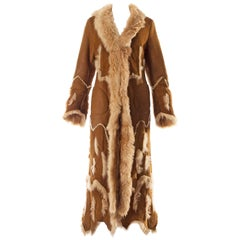 Alexander McQueen shearling sheepskin full length coat, A / W 1996