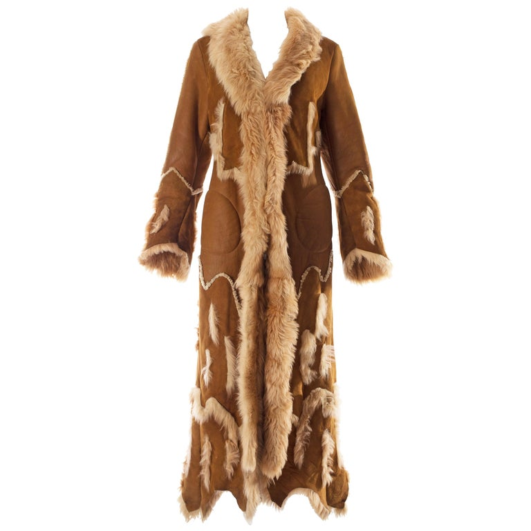 Alexander McQueen shearling sheepskin full length coat, A / W 1996