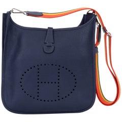 Hermes Evelyne PM Blue Nuit Clemence Bag