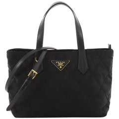 Prada Convertible Tote Quilted Tessuto Small