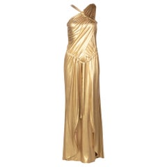 Chanel Paris- Byzance Gold Silk Godess Maxi Dress, 2011