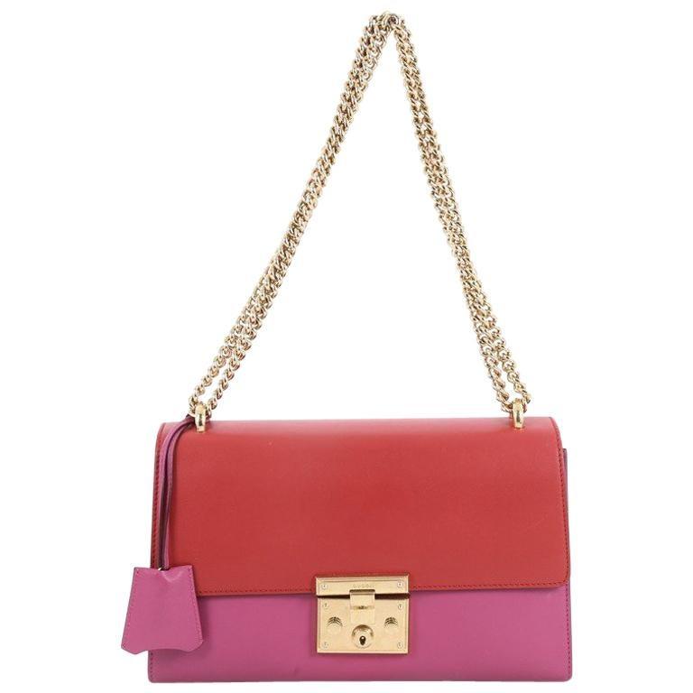 6670bb64ffa Gucci Padlock Shoulder Bag Leather Medium at 1stdibs