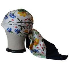 Gucci Flora V.A. CCORNERO Silk Scarf