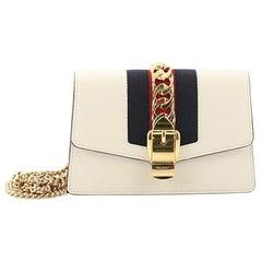 Gucci Sylvie Chain Crossbody Bag Leather Mini