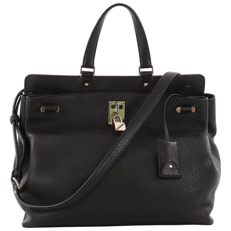 b74aaaa2af Valentino Joy Lock Top Handle Bag Leather Medium at 1stdibs