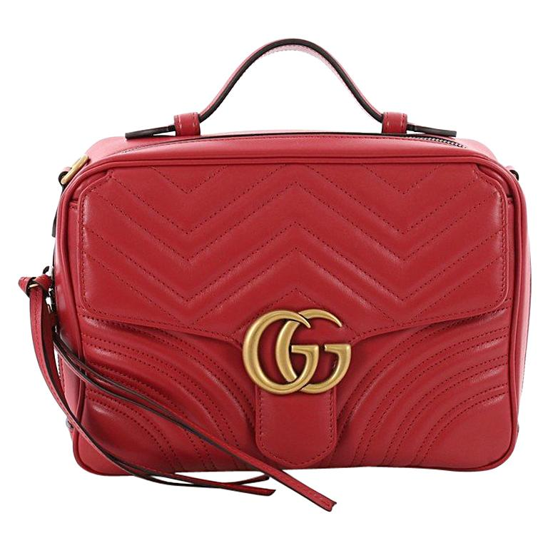ee3b93830 Gucci GG Marmont Zip Around Handle Bag Matelasse Leather Small For Sale
