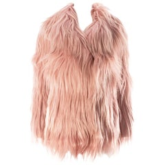 Gucci dusty pink goat hair jacket, AW 2014