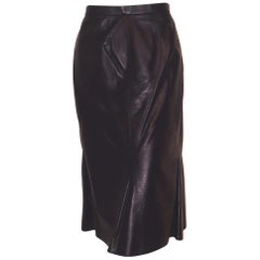 Chanel Black Leather skirt, Fall 2002 Collection