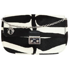 526ef333457d Christian Dior Zebra Black/White Ponyhair Miss Dior Promenade Crossbody Bag