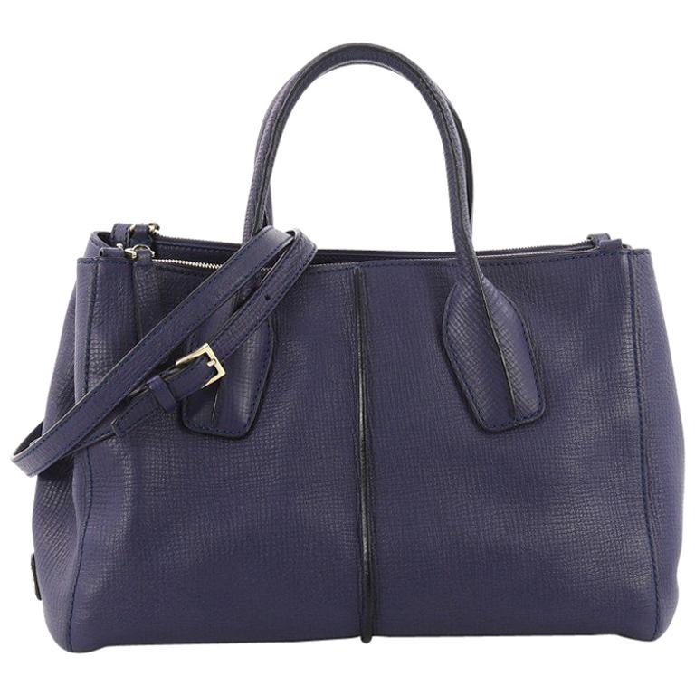 Tod's D Cube Double Zip Tote Leather Medium