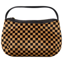 Louis Vuitton LV Brown/Tan Checkered Damier Sauvage Calf Hair Tigre Bag