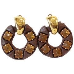 1980s Kalinger Paris Hoop Earrings
