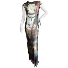 Vivienne Tam Vintage Mesh Buddha Dress