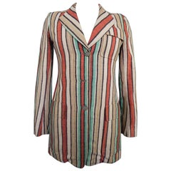 Ted Lapidus Raw Striped Silk Jacket, Circa 1975