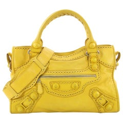 Balenciaga City Giant Brogues Medium Leather Handbag