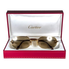 Cartier Vintage Louis Laque De Chine Medium 57mm France Sunglasses