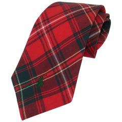 Ralph Lauren Polo Men's Tartan Plaid Flannel Necktie, 1980s